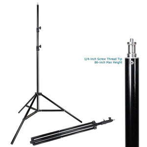 "Photo Studio 10'x10' Muslin Black White Backdrop Support Kit 700W 33"" Black Silver Umbrella Light Kit"