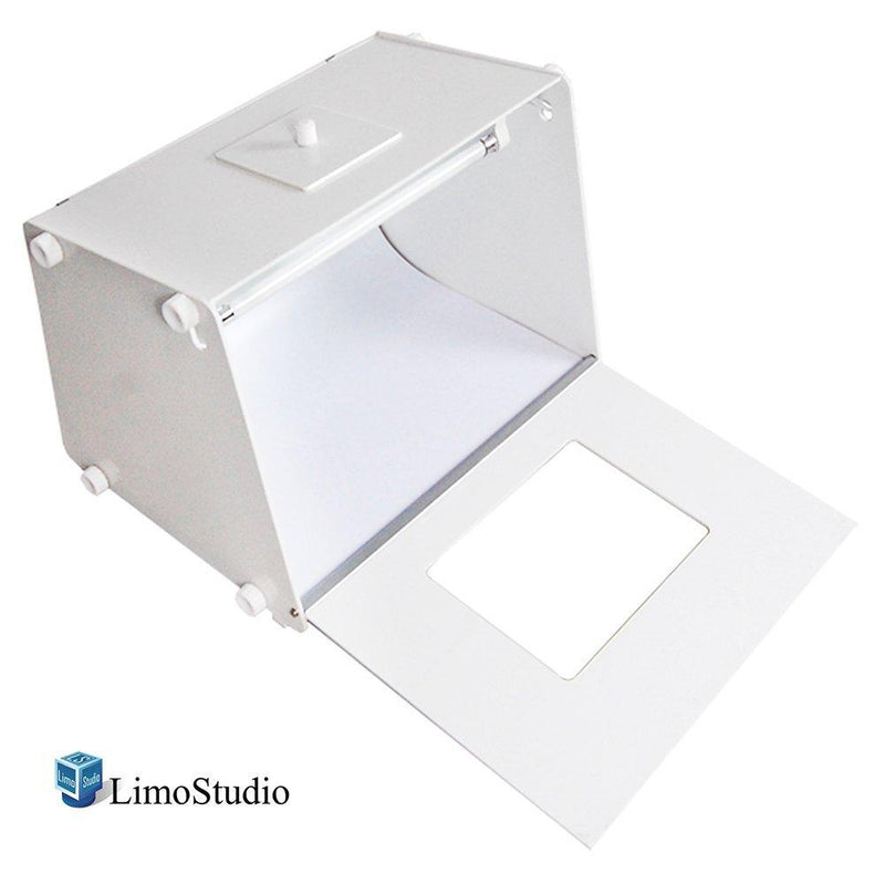 Photo Shooting Tent, White Plastic Box with 2 Continuous Light, Good for Commercial Product Shoot, Color Background Included, Photography Studio, LMS729V2