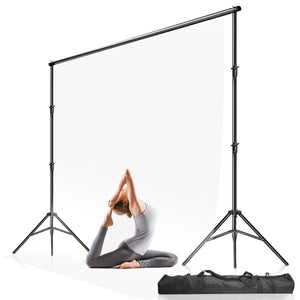 10 ft. Max Wide 9.4 ft. Max Tall Adjustable Background Support Stand, Backdrop Stands Equipment Used in Photography Video Studio for Backdrop Muslin with 8pack Holders Carry Bag, SRE1004