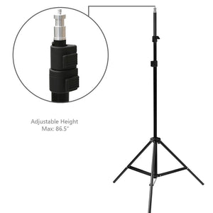 6.5 Inch Photography Continuous Light Head with Reflector, 86 Inch Adjustable Light Stand, and 150W JDD Light Bulb, Photo/Video Accent, Side, Background Studio Lighting Kit, SRE1231