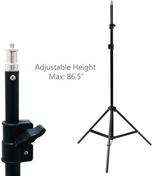 (50% Moving Clearance Sale) Continuous Photography Studio Barn Door Light, 86 Inch Adjustable Light Stand, and 150W JDD Light Bulb, Photo/Video Studio Lighting Kit, SRE1058