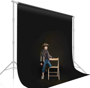 10 ft. X 12 ft. Long Life Time Reusable Black Chromakey Photo Video Photography Studio Fabric Backdrop, Background Screen, Pure Black Muslin, Photography Studio, SRE1016