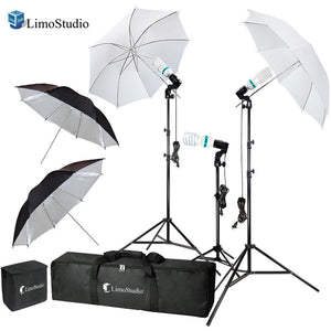 Photography Video Portrait Studio Daylight Umbrella Continuous Lighting Kit with Energy Saving Bulb, Photo Studio, AGG2332