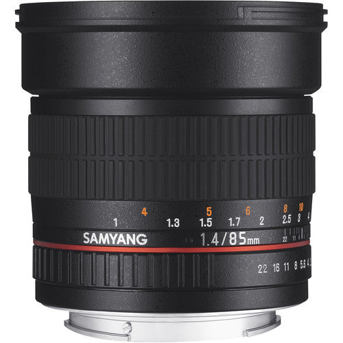 Samyang 85mm F1.4 AS IF ED UMC Lens for Nikon with Focus Confirm Chip