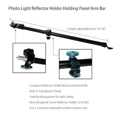 Photo Video Studio Boom Lighting Slope Bar for Softbox Light Reflector