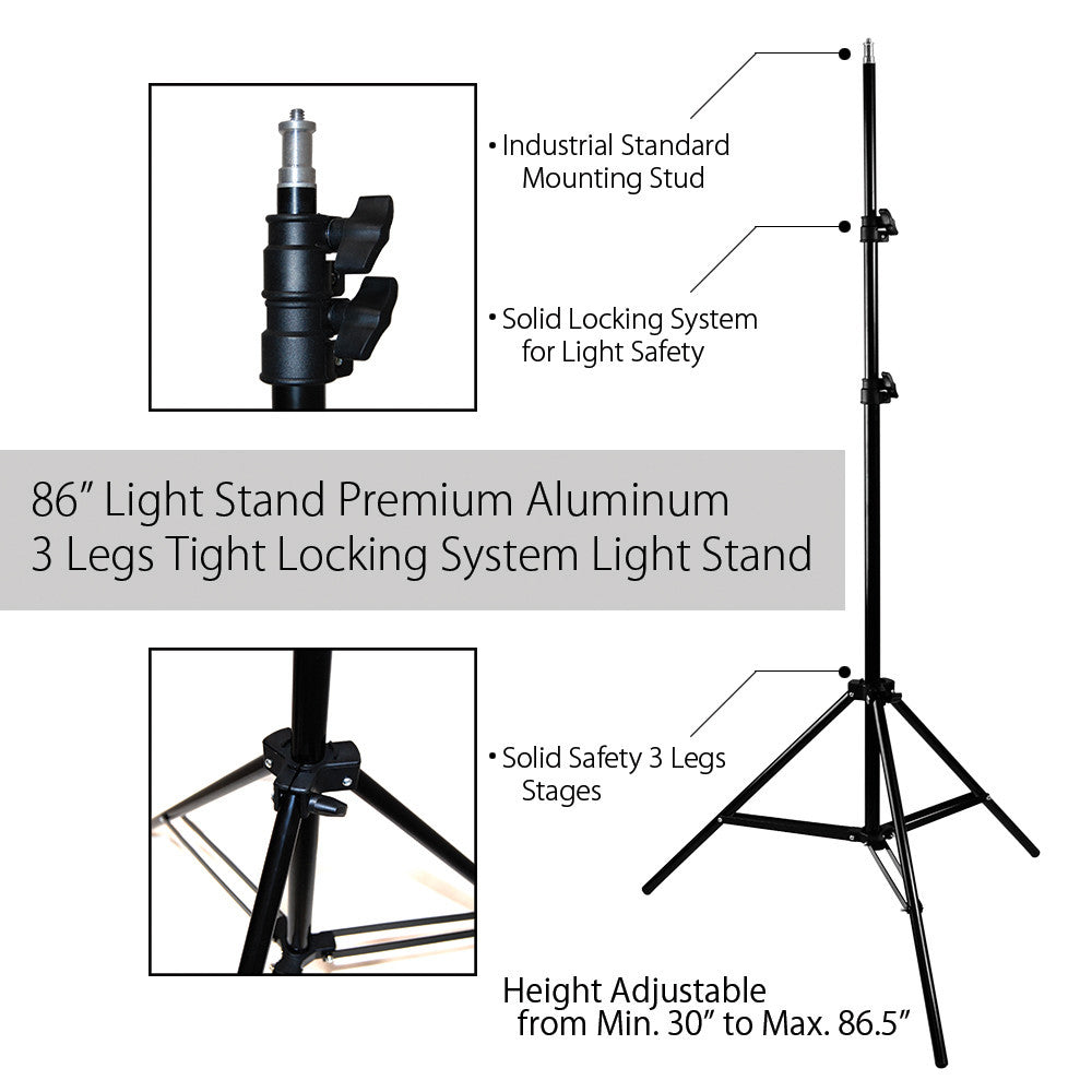 7 Foot Photo Video Portable Multi-Purpose and Light Weight Lighting equipment Stand with Carry Bag