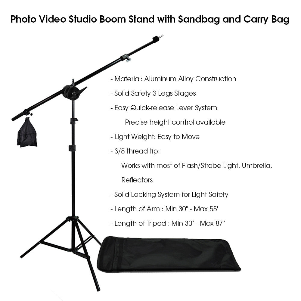 Photography Photo Studio Lighting Kit Reflector Light Kit with Boom Arm Hair Light Kit