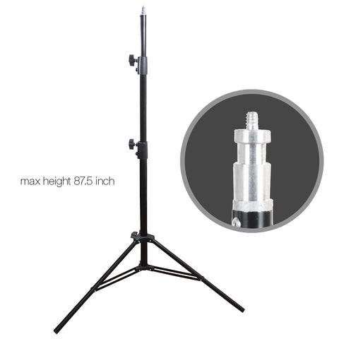 Set of 2 Photography T1.4 Heavy Duty Gauge Aluminum Alloy Construction Light Stand for Lighting Equipment