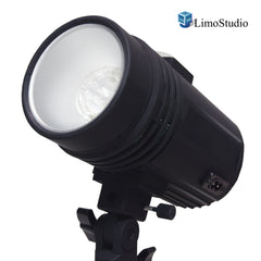 200 Watt Studio Flash/Strobe Light, Fuse, Test Button, Wireless Triggering Available, Umbrella Input, Mount on Light