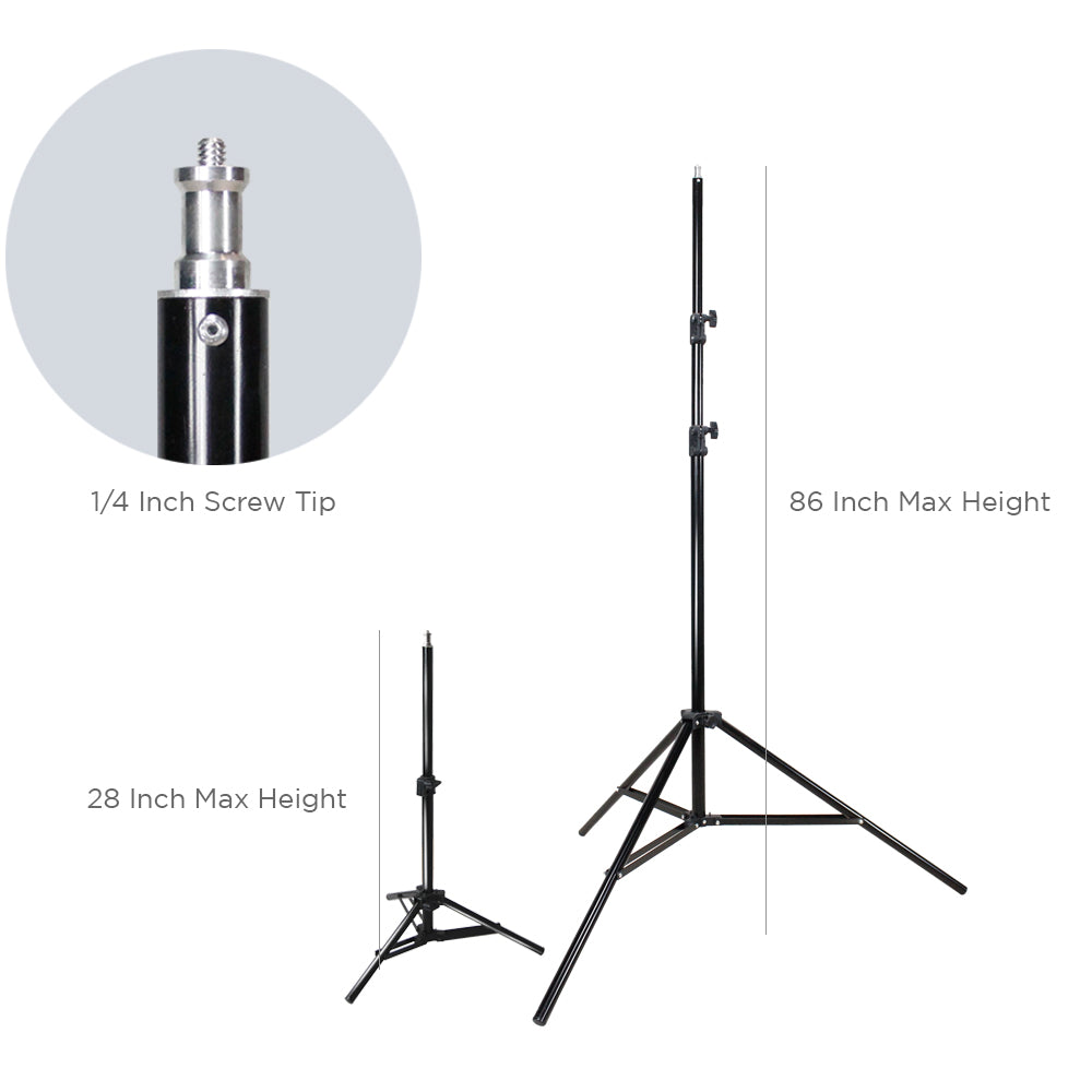 600W 5500K Photo Video Studio Continuous Lighting Kit UL1573 ETL Listed, Black & White Umbrella Reflector, Light Stand Tripod, Heavy Duty Carry Bag, Photography Studio, WMLS4208