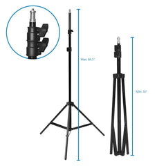 600W 5500K Photo Video Studio Continuous Lighting Kit, UL 1573 ETL Listed Photo Bulb Socket with Umbrella Reflector Insertion, Silver & Gold Umbrella, Light Stand Tripod, WMLS4292
