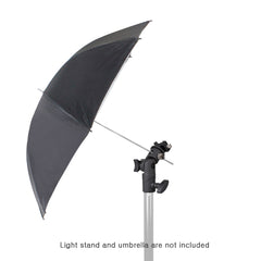 Loadstone Studio [4 Pack] E-Type Flash Bracket Multi Functional 4 1/4-inch Tall Including Umbrella Reflector Holder,