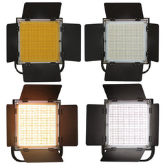 2-Pack LED 600 Photographic Lighting Panel with Digital Display Screen, Photo Studio Barndoor Light,