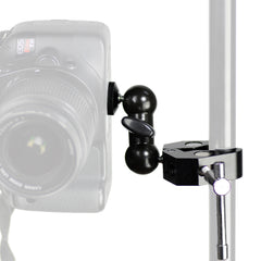 Loadstone Studio Cool Ballhead Arm Multi-Functional Double Ball Adapter with Super Clamp 1/4 Inches Screw for Camera, Camcorder, Light and Microphone, WMLS4553