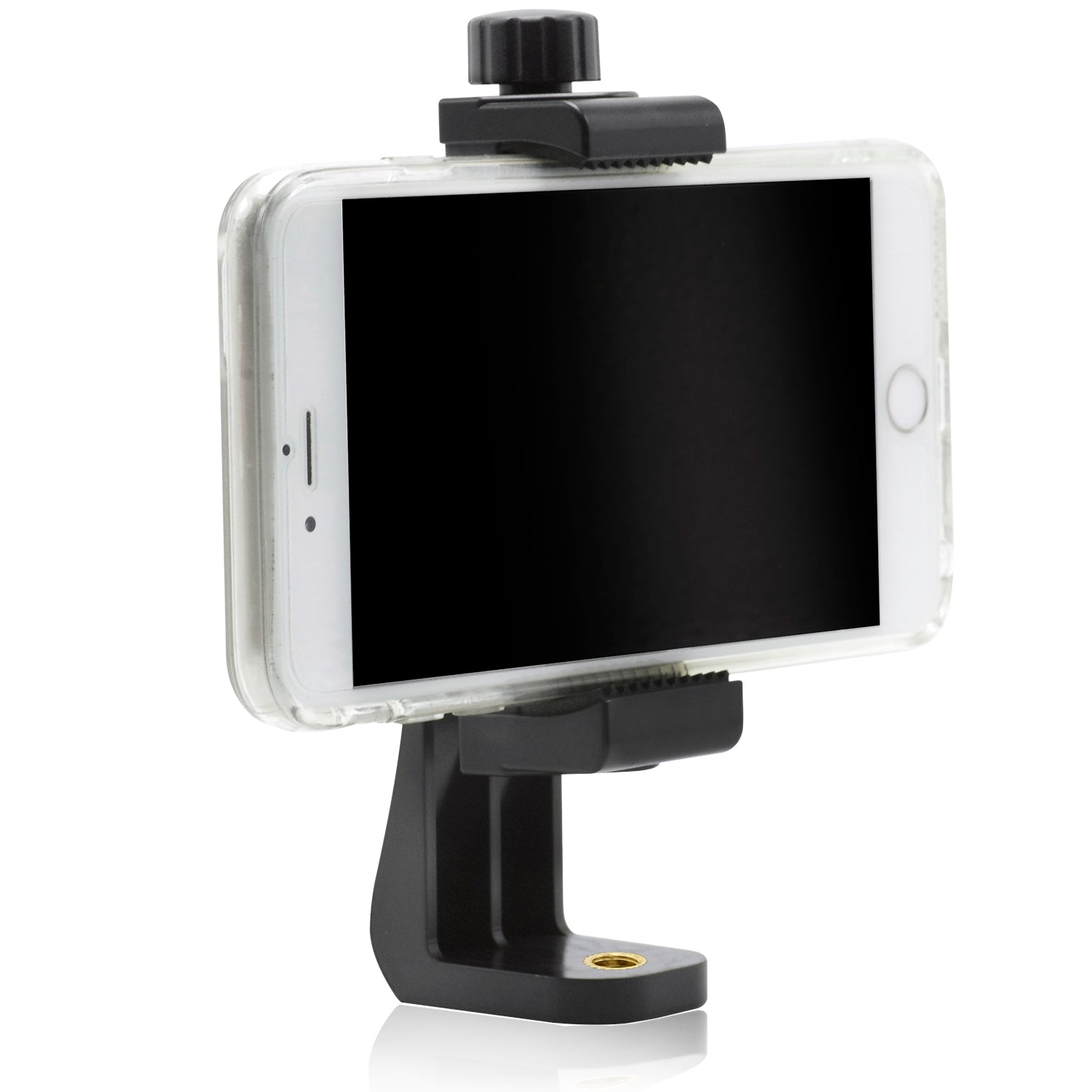 Loadstone Studio, Universal Smartphone Tripod Mount Adapter, Fits iPhone, Samsung, and most Phones, Rotates Vertically and Horizontally, Adjustable Width Soft Clamp, WMLS4527