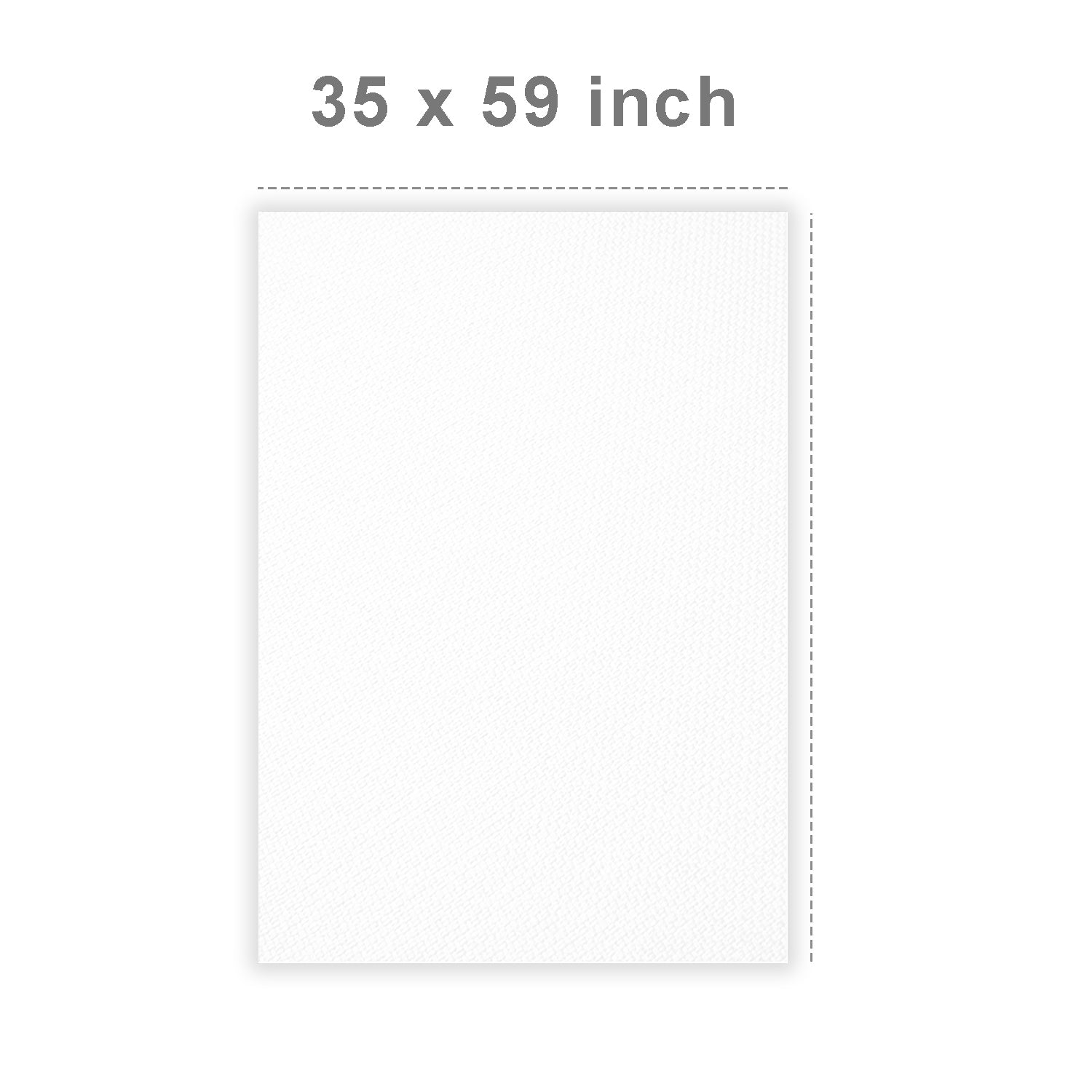 Loadstone Studio 35 Inch x 59 Inch (1.8M x 1.4M) Seamless White Diffusion Fabric, DIY Softbox Lighting Tents, Soft Nylon Silk for Professional Photography Lighting, WMLS4612