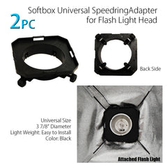 "Double 20"" x 28"" Softbox Lighting Kit with 2x 160W Flash Strobe, and 2x Light Stands for Photo Lighting"