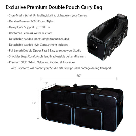 Photography Heavy Duty Convenient Carry Case For Studio Softbox Umbrella Flash Strobe Lighting Kit
