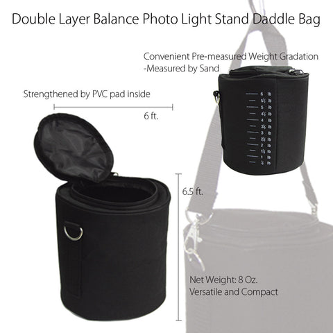 Heavy Duty Sandbag for Boom Arm Light Stand Counter Weight Balance Multi Purpose Durable Saddle Bag by Loadstone Studio