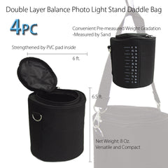 4 x Photographic Studio Video Equipment Century Stand Light Stands Sandbag Sand Bag Saddle Bag