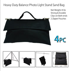 4x Heavy Duty Counter Balance Sandbag Weight Bag Saddle Bags for Light Stands & Boom Arms Durable Material by Loadstone Studio