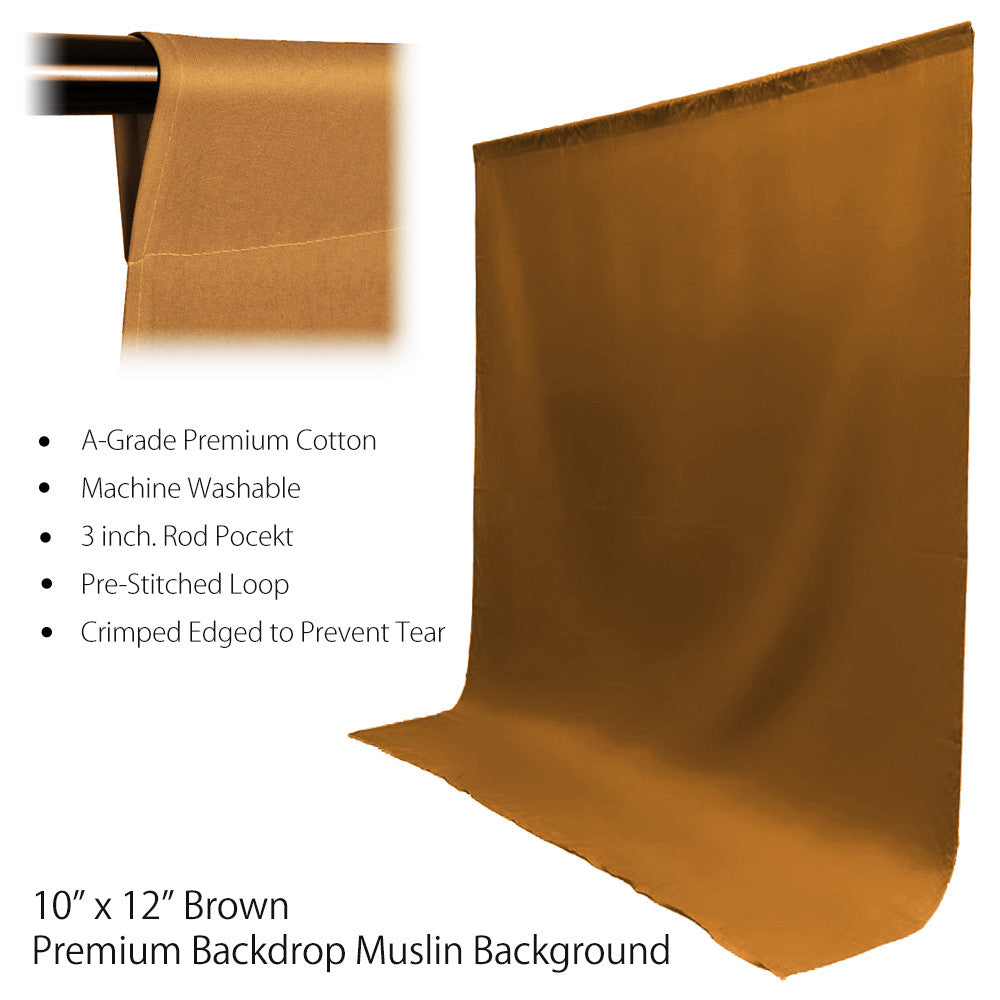 Loadstone Studio 10 ft X 12 ft Brown Chromakey Photo Video Photography Studio Fabric Backdrop Background Screen,