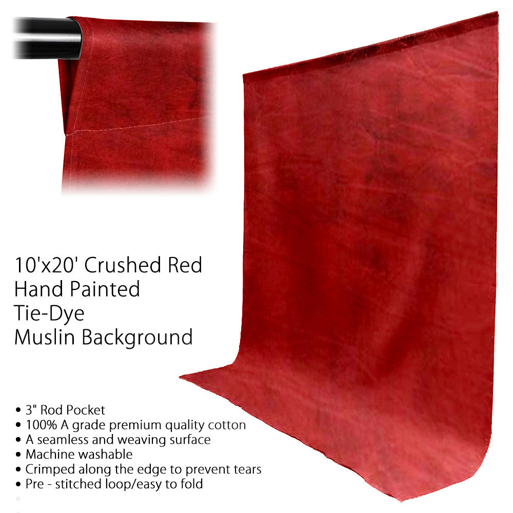 10' x 20' Ft. Chromakey Tie Dye Crushed Brown Hand Painted Seamless Muslin for Photography Background Lighting by Loadstone Studio