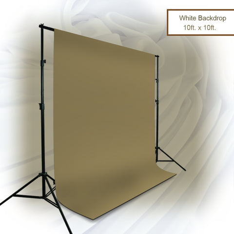 10 x 10 ft. Brown khaki Chromakey Photo Video Studio Fabric Backdrop, Background Screen, Pure Brown Muslin, Photography Studio, WMLS4175