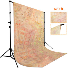 6 x 9 ft. Tie Dye Pattern Orange, Pink, Yellow, Red, Warm Color, Chromakey Photo Video Studio Fabric Backdrop, Background Screen, Pure Fabric Muslin, Photography Studio, WMLS4170