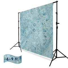 6x9 ft. Tie Dye Pattern Steel Blue, Teal, Dark Cyan, Cloudy Sky, Cool Color, Chromakey Photo Video Studio Fabric Backdrop, Background Screen, Fabric Muslin, WMLS4171
