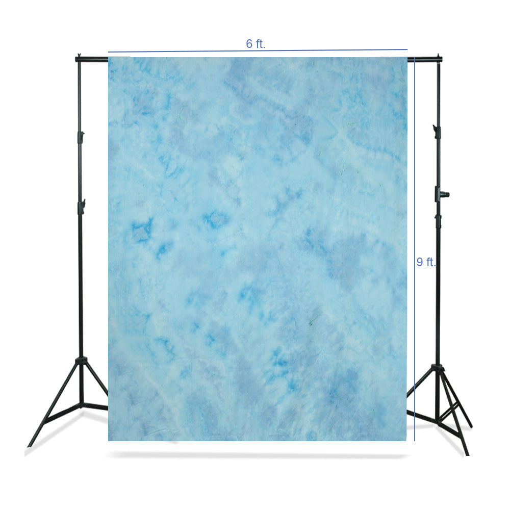 6 x 9 ft. Tie Dye Pattern Light Sky Blue, Bright Blue, Azure Sky, Cool Color, Chromakey Photo Video Studio Fabric Backdrop, Background Screen, Fabric Muslin Studio, WMLS4172