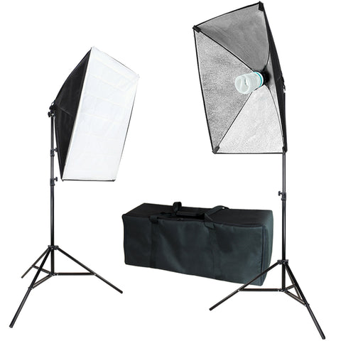 "Photography Softbox Continuous Lighting System Equipment Light Kit, Soft Box 20"" x 28"" with Bulb Socket, Photo Model Portrait Shooting Box, Photo Studio, WMLS4385"