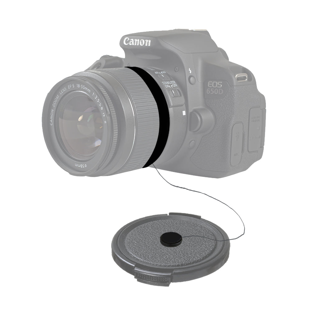 58mm ND8-Neutral Density-Filter Camera Accessory, Lens Cap Holder, Cleaning Wipes, WMLS3925