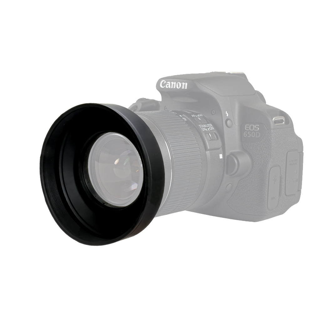 52mm Collapsible Rubber Lens Hood Camera Accessory Cap Holder For Cameras Screw Mount Cleaning Wipes Wmls3948
