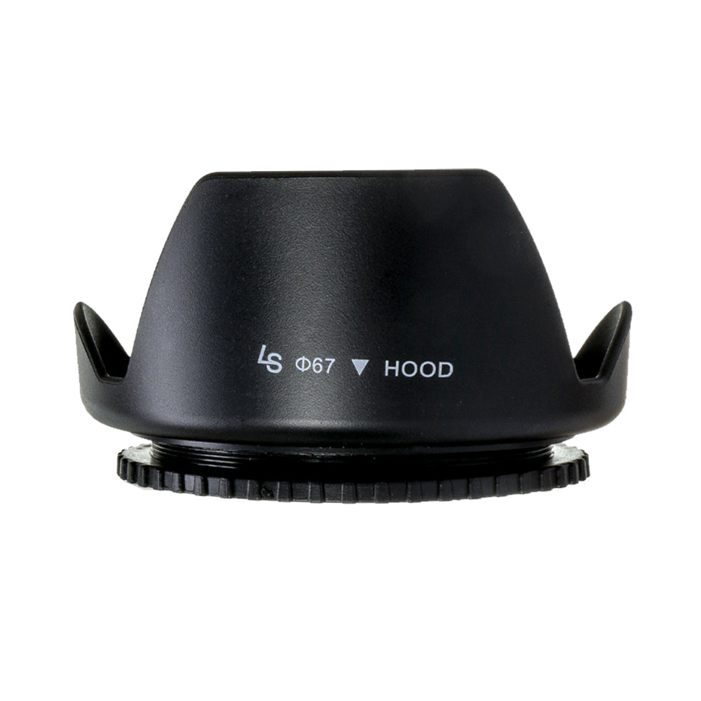 67mm Petal Lens Hood Camera Accessory, Lens Cap Holder, Cleaning Wipes, WMLS3956
