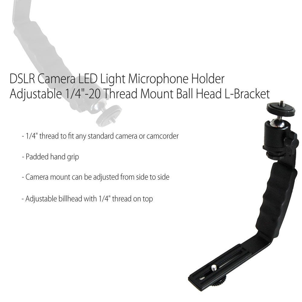 L-Bracket with Standard 1/4'-20 Mounts with Aluminum Construction for Photography and Video Lighting by Loadstone Studio