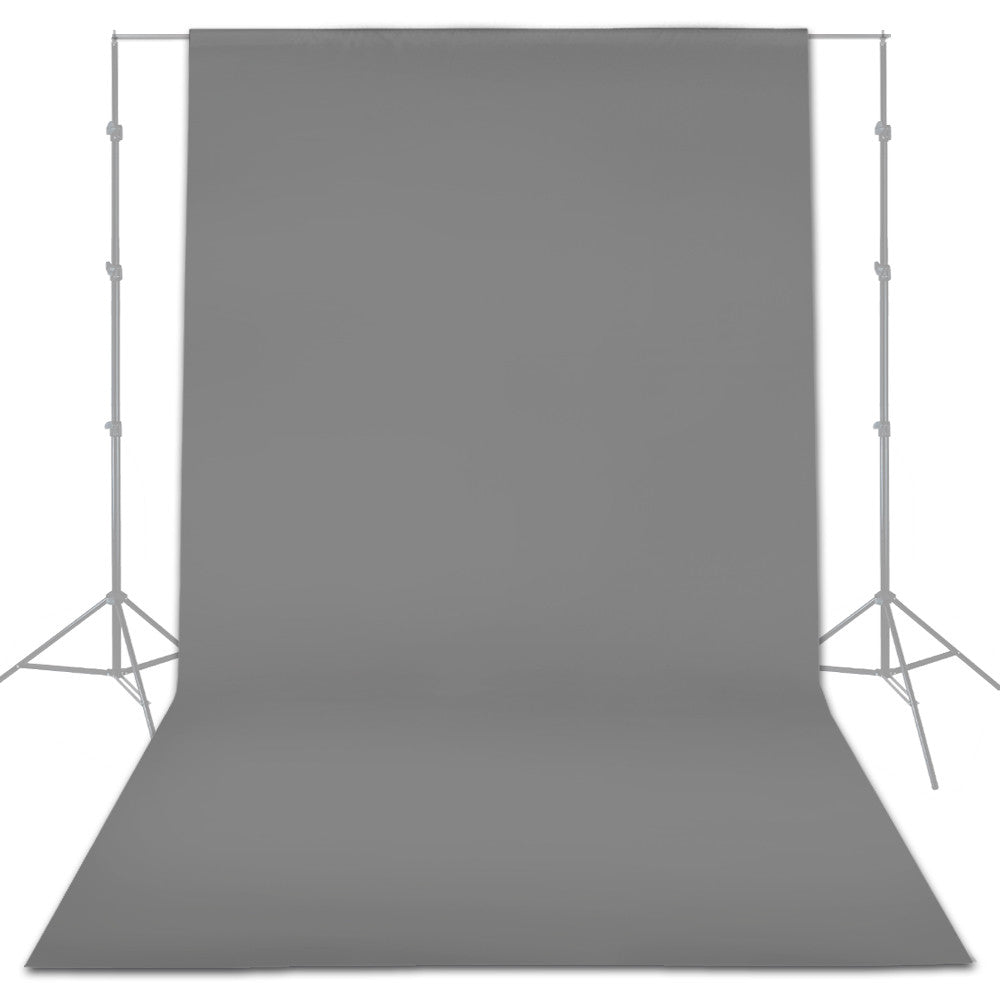 Loadstone Studio Seamless 6 x 9ft Gray Screen Muslin Backdrop Photography Background, Photo Video Studio,
