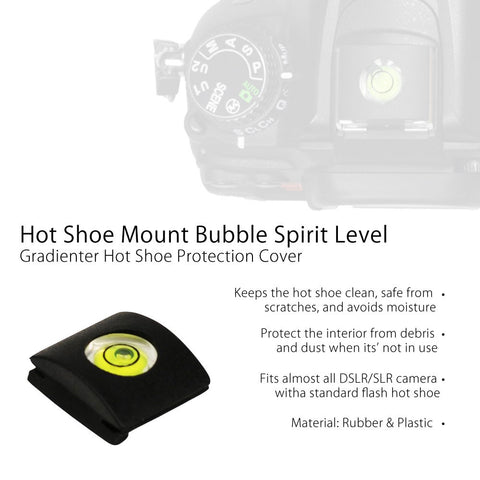 Hot Shoe Cover Cap Bubble Spirit Level for Canon, Nikon, Olympus, and Pentax DSLR for Photo Accessory by Loadstone Studio