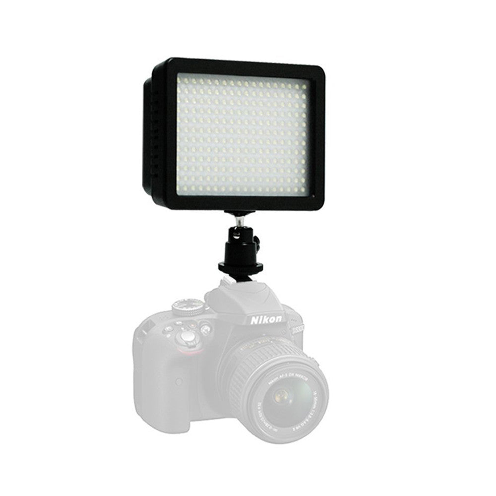 "2x 160 LED Digital Photo Video Compact Dimmable Lighting Panel Kit with Color Gels, 28"" Portable Light Stand"