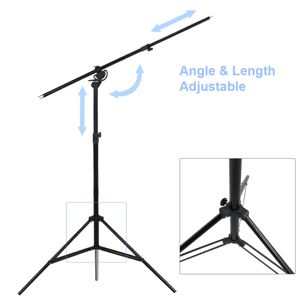 Heavy Duty Umbrella Softbox Flash Light Boom Light Stand Lighting Kit for Photo and Video