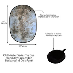 "60"" x 84"" Old Master Series Tie Dye Brown/Gray Collapsible Background Disc Panel for Background Lighting by Loadstone Studio"