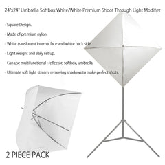 "600W 3x 24"" Gold and 3x 24"" White Softbox Lighting Kit with Steel Stand, CFL Bulbs, Bulb Light Socket by Loadstone Studio"