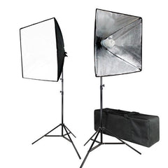 700W Photo Softbox Lighting Kit, Studio Light Diffuser Reflector 24 x 24 Inch, Photo Equipment Carry Bag, Photography Studio, WMLS4267