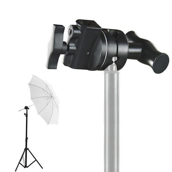 2.5 Inch Diameter Grip Head Black 1/2, 1/4, 3/8, 5/8 Inch Mount, Compatible with Super Clamp, Extension Grip Arm, C Stand with Turtle Base, Reflector Disc, Photo Studio, WMLS4354