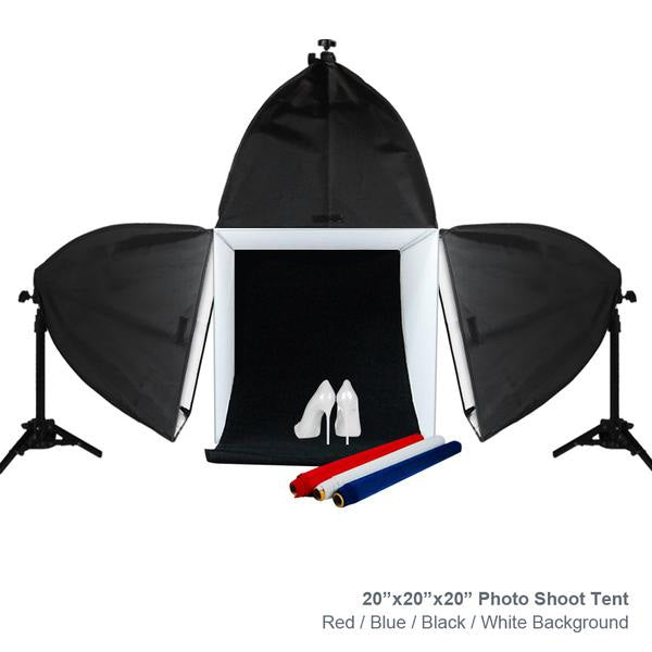 Photo shoot tent 20 inch with color background lightbulb soft box photo shoot tent 20 inch with color background lightbulb soft box light aloadofball Images