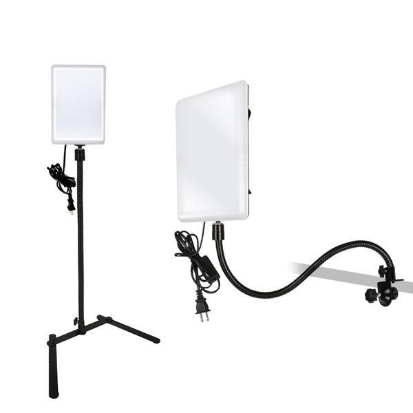 Led Light Panel With Gooseneck Extension Adapter Mini Table Top Light Stand And Mounting Clamp Photo Video Lighting Kit Photo Studio 2 Pack