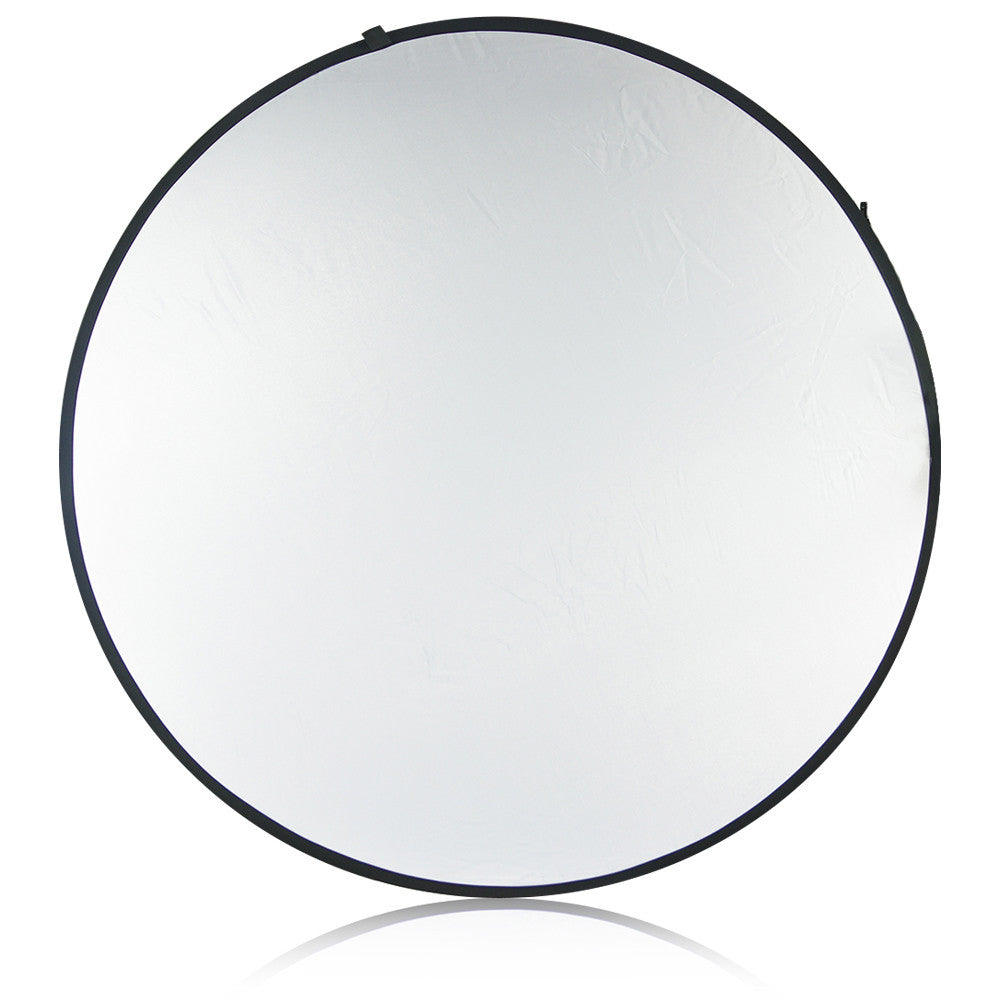 "43"" 5-in-1 Collapsible Reflector Disc Panel Silver, Gold, White, Black, Translucent in Carry Bag by Loadstone Studio"
