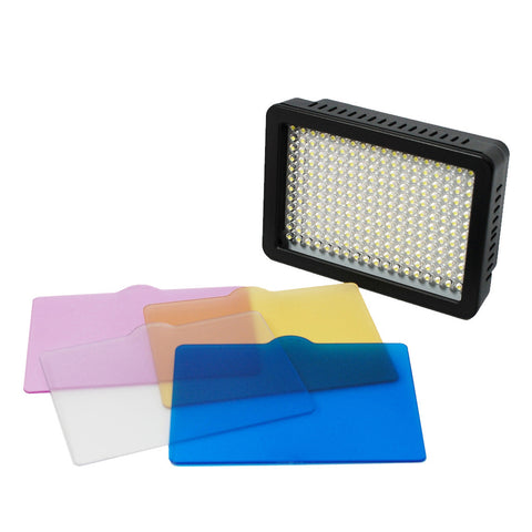 "216 LED Digital Photo Video Compact Dimmable Lighting Panel Kit with Color Gels, 28"" Portable Light Stand by Loadstone Studio"