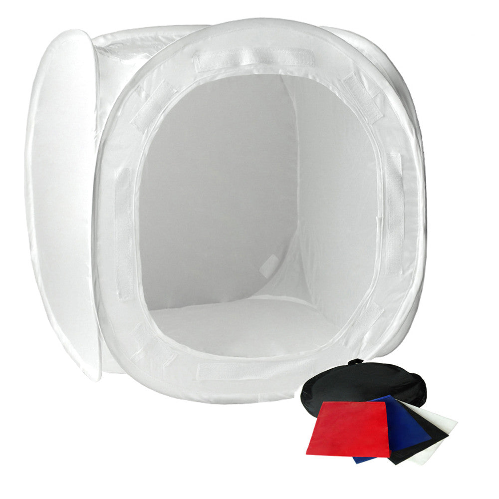 24  Tabletop Product Photo Collapsible Light Tent Cube Box with Multiple Color Backdrops in Red  sc 1 st  Loadstone Studio & 24