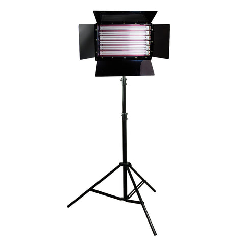 1650W Fluorescent Cool Light 6-Bank Photography Video Lighting Kit with Barndoor on Heavy Duty Stand by Loadstone Studio